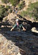Rock Climbing Photo: Ken enters the crux...