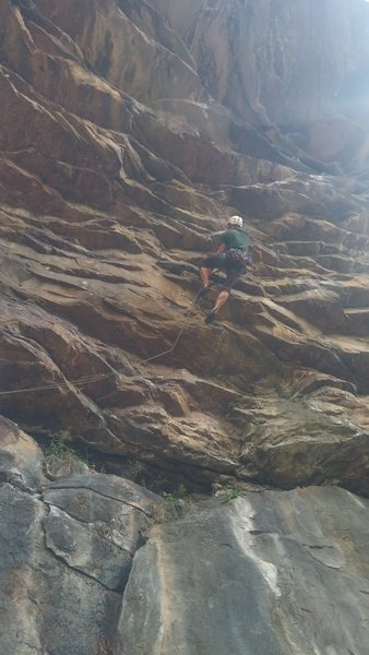 Rock Climbing Photo: This is where it starts to get pumpy. It's on from...