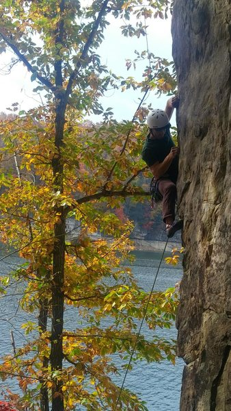 Rock Climbing Photo: Really fun, bouldery moves at the bottom are all t...