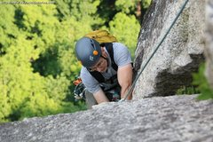 Rock Climbing Photo: The end of the exhausting layback of the last pitc...