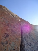 Rock Climbing Photo: Ridiculous stemming up the amazing corner on Pitch...