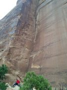 Rock Climbing Photo: unknown corner on left side of Calf Wall (10a?) . ...