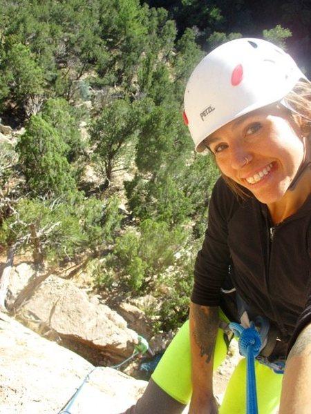 Rock Climbing Photo: Top of my first lead. Shelf.