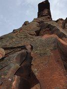 Rock Climbing Photo: Caroline's Crack, a great 5.7 warm-up.