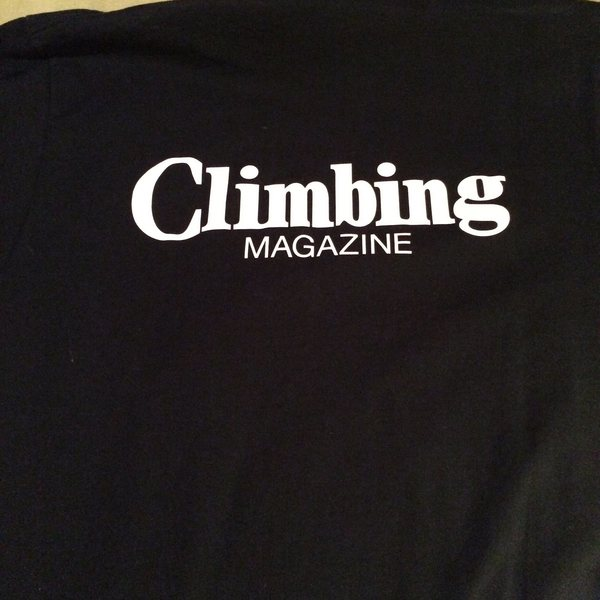 Rock Climbing Photo: Climbing mag shirt back