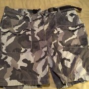Rock Climbing Photo: climbing shorts - blue camo