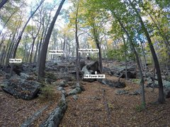 Rock Climbing Photo: Another view of the Talus Area from the Green Trai...