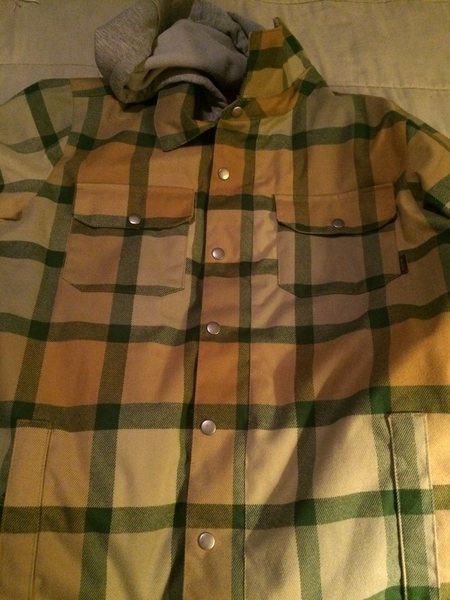 Burton flannel snowboad jacket Med