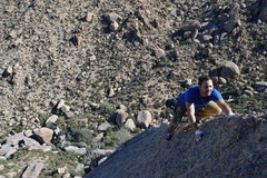 Rock Climbing Photo: Kyle on the easy upper arete that leads to the cha...