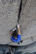 Rock Climbing Photo: One more of the finger crack section.  If only it ...