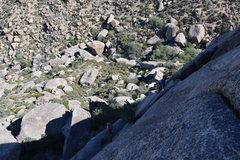 Rock Climbing Photo: Shot of pitch 2 of the Phantom