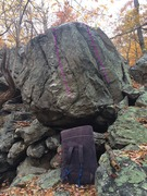 Rock Climbing Photo: This boulder has 2 lines worth exploring (I don't ...