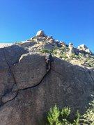 Rock Climbing Photo: A really fun, easy boulder problem.  Girlie Man wa...