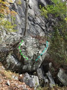 Rock Climbing Photo: Green Toast and Davis Special on this boulder belo...