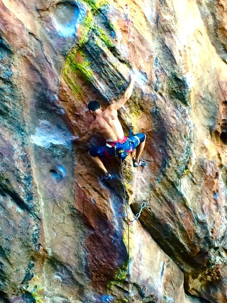 Rock Climbing Photo: Cruxin' on TM....