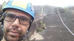 Rock Climbing Photo: Aquarius Pitch 3 Dihedral - Pedra da Gavea- Rio de...