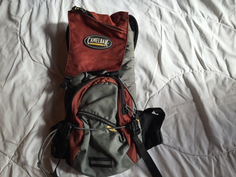 1 small Camelbak, small, condition fair, no bladder - $25