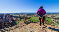 Rock Climbing Photo: Stephanie Balbin takes in the view from Monkey Fac...