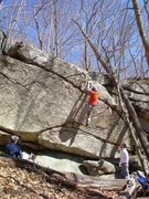 Rock Climbing Photo: Mike Hartford at the topout of The Standard Route,...