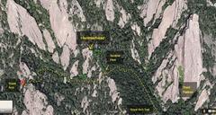 Rock Climbing Photo: Royal Arch, Hammerhead, Third Flatiron. Via Google...