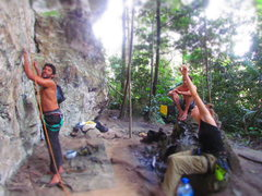 Rock Climbing Photo: funny day on the crag