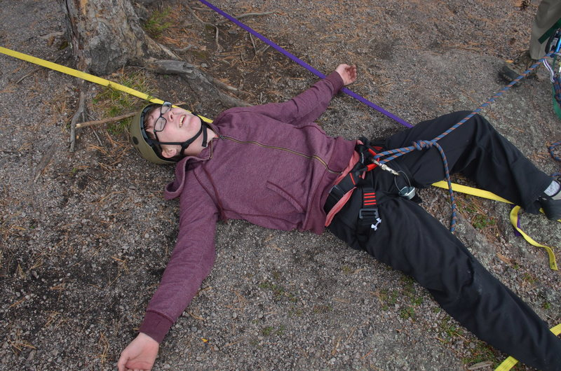 Myself after finishing my first ascent