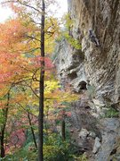 Rock Climbing Photo: Chica Loca with Fall colors...