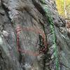 Unsolved Mysteries (green). The engraving has never been deciphered though has been reported to the NPS. Can you solve the mystery? Don't climb on the mystery, palease.