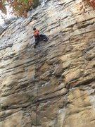 Rock Climbing Photo: Matt Wade leading Orange Oswald.