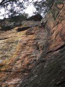 Rock Climbing Photo: Stemming and jamming. Supercrack 10/15