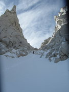 Rock Climbing Photo: further up the couloir