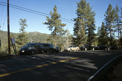 Rock Climbing Photo: Example of shoddy parking at Castle Rock - one sho...
