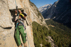Rock Climbing Photo: Even little roofs are challenging without the use ...