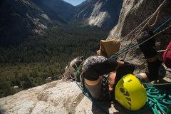 Rock Climbing Photo: trying to avoid the sun