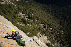 Rock Climbing Photo: Enock jugging on Day-two