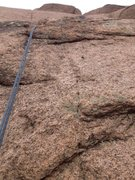 Rock Climbing Photo: The crux area and the one bolt (right of the rope)...