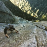 Rock Climbing Photo: Quinn Miller on the 10th pitch.