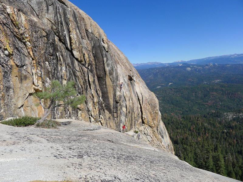Rock Climbing Photo: Fun climbing on big holds.