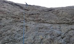 Rock Climbing Photo: On the skids straight up, Haven't a clue to the le...
