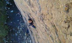 Rock Climbing Photo: My first lead climb, Haven't got a clue.