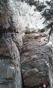 Rock Climbing Photo: Towards the base of Hollow Man