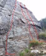 Rock Climbing Photo: Far Right End of black flower Wall