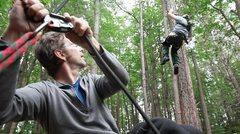 Rock Climbing Photo: Sean lowering Enock while training for Yosemite