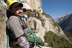 Rock Climbing Photo: Enock getting ready to lower