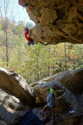 Rock Climbing Photo: Cool start to a fun climb...