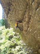 Rock Climbing Photo: Ken milking the horn for a much needed rest...