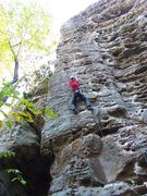 Rock Climbing Photo: Ken in the lower pumpy section...