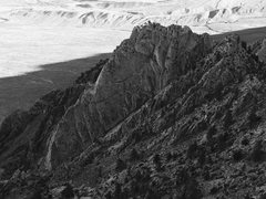 Rock Climbing Photo: The gigantic North Ridge of Wells Peak as seen fro...