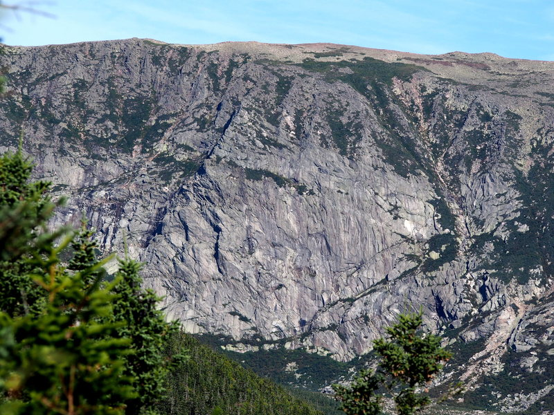 """Rock Climbing Photo: North Basin as Viewed """"Straight On"""" from..."""