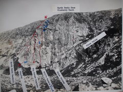 Rock Climbing Photo: North Basin from Blueberry Knoll - Route lines are...